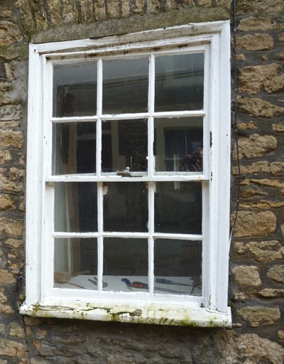 Bruton Somerset  sash window repairs before